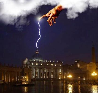 San Pietro fulmine con mano di Dio