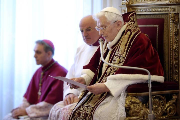 eidon - 866301 Papa Benedetto XVI annuncia le proprie dimissioni dal pontificato - Papa Benedetto XVI annuncia le proprie dimissioni dal pontificato