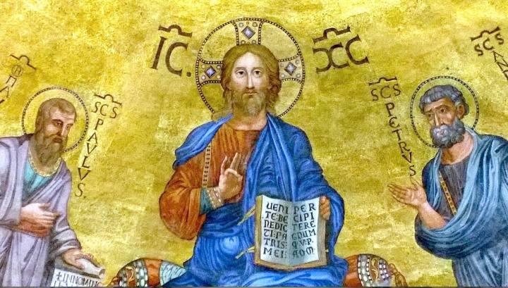 Cristo-tra-pietro-e-Paolo