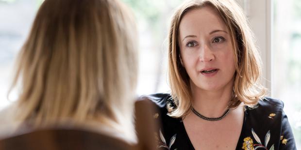 web3-woman-talking-chatting-serious-women-shutterstock
